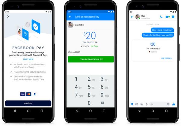 תאפשר תשלומים מאובטחים באינסטגרם, ווטסאפ ומסנג'ר. אפליקציית Facebook Pay. צילום: פייסבוק
