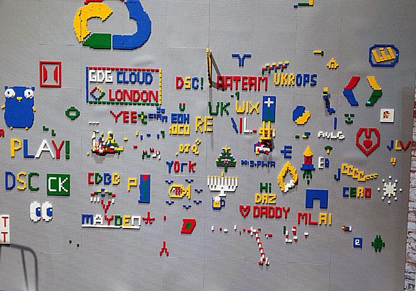"""לגו """"ענני"""" - בכנס Next 19 של גוגל קלאוד, שהתקיים בשבוע שעבר בלונדון. צילום: יניב הלפרין"""