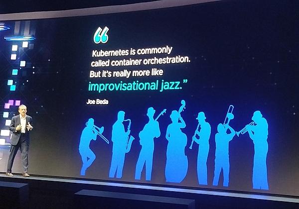 """""""קוברנטס הוא כמו אלתור ג'אז"""", ג'ו ביידה, VMware. צילום: עופר פרוסנר"""