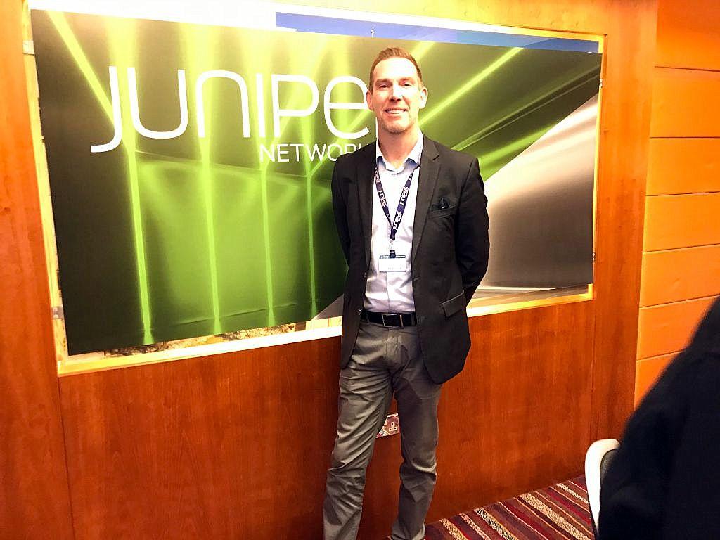 ג'יימס מורגן, סגן נשיא בג'וניפר נטוורקס לארגוניים גדולים ב-EMEA. צילום: אבי בליזובסקי