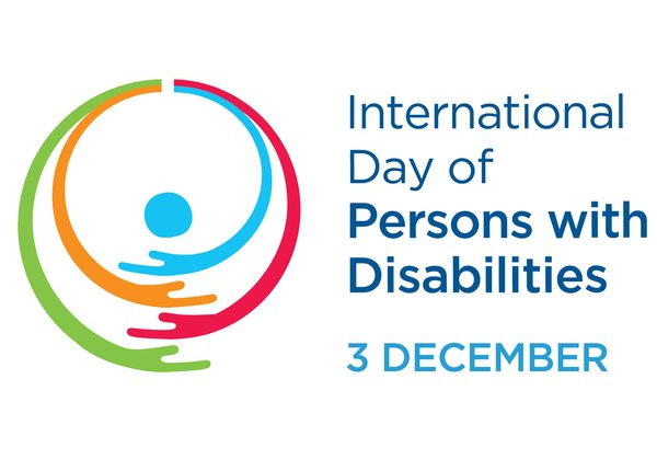 """היום הבינלאומי לזכויות אנשים עם מוגבלות. לוגו: האו""""ם"""