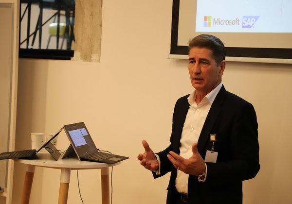 בראד ברקלי, מנהל מכירות SAP במיקרוסופט. צילום: אלינור וייסברוט-אלתוני