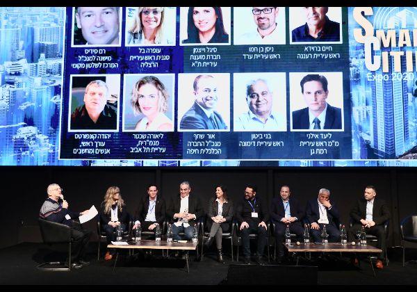 פאנל ראשי ערים שנערך במסגרת כנס Smart Cities 2020. צילום: ניב קנטור
