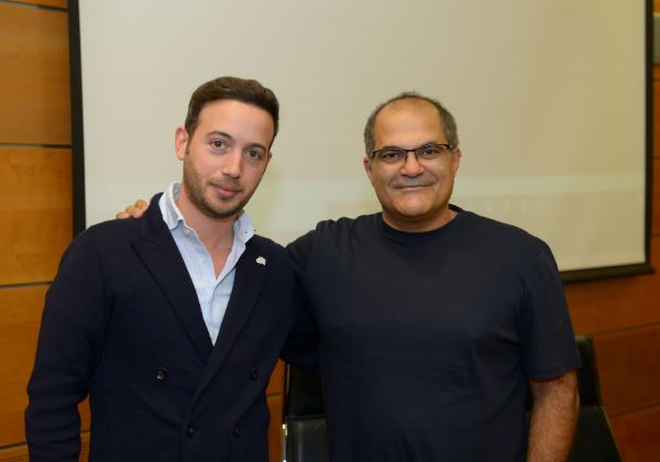 """רוני צארום, מייסד ויו""""ר עמותת יוניסטרים, ואוהד פלוטניק, יזם אאורטו. צילום: לירן אוזן - FREEZE"""
