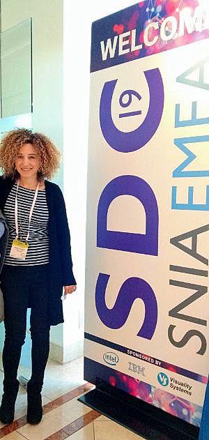 """חגית גלצר, Windows Program Manager, מיקרוסופט העולמית, בכנס בשנה שעברה. צילום: יח""""צ"""
