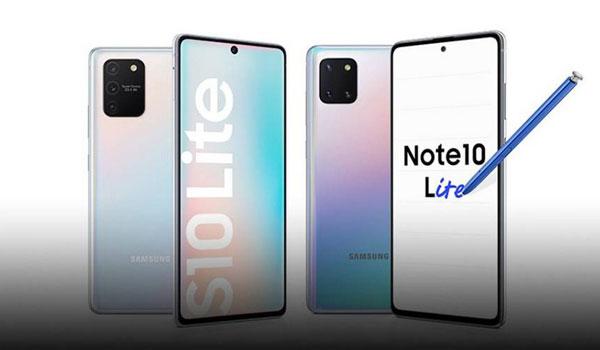 """ה-Galaxy S10 Lite וה-Galaxy Note 10 Lite של סמסונג. צילום: יח""""צ"""