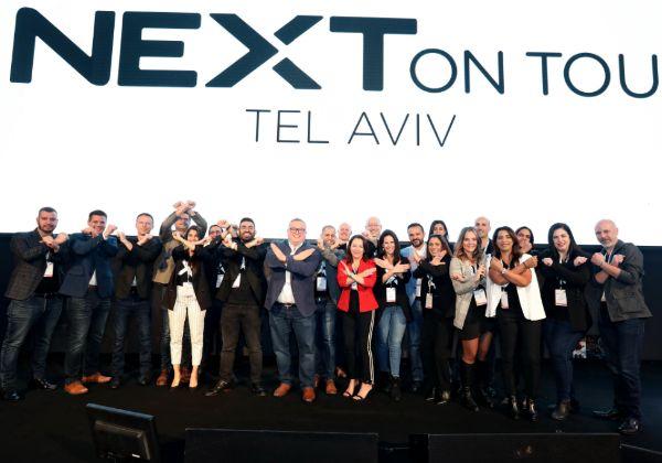 צוות נוטניקס ישראל יחד עם אורחי נוטניקס העולמית על בימת הכנס. צילום: ניב קנטור