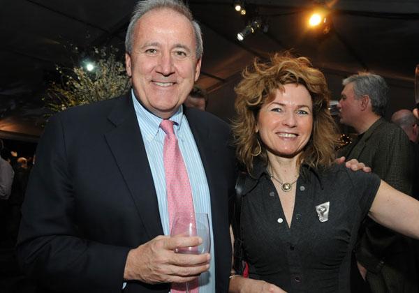 """ברוורמן-בלומנשטיק עם ארט קביליו, מנכ""""ל RSA, בכנס שערכה החברה בסן פרנסיסקו ב-2010. צילום: פלי הנמר"""