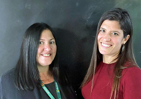 מימין: ליאת נתנאל, מנהלת פיתוח עסקי לסטארט-אפים ב-Microsoft for Startup, והילה אוביל-ברנר, מייסדת יזמיות. צילום: דן כהן