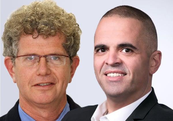 """מימין: שלום דיין, מנכ""""ל וואן סיסטמס, ועדי שיין, מנהל פעילות המכירות ללקוחות אסטרטגיים ב-וואן. צילום: חזי רגב"""