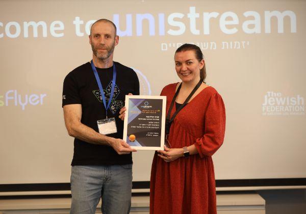 """מימין: ליסה זייצ'יק, CPO באפספלייר, ורשף מן, סמנכ""""ל טכנולוגיות בחברה. צילום: Oart_tlv"""
