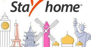 הישארו בבית! הלוגו של פיוניר, במסגרת הקמפיין