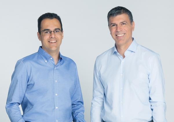 מימין: דרור דוידוף ואמיר ג'רבי, מקימי אקווה סקיוריטי. צילום: ג'ורג' דיסאריו