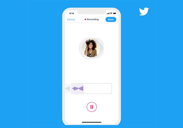 ממשק הודעות קוליות בטוויטר. צילום: טוויטר