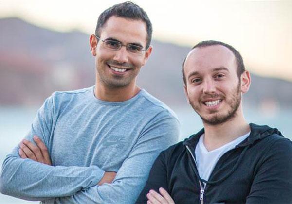 """מימין: לירן פולק ועמירם שחר, מייסדי ספוט. צילום: יח""""צ"""