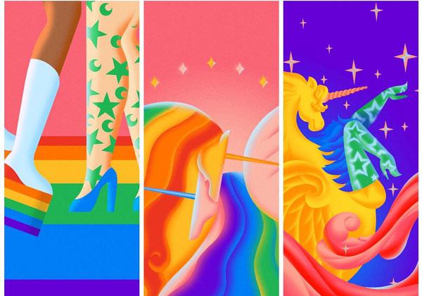 שלושה מהטפטים החדשים - והגאים - לאנדרואיד. מקור: גוגל