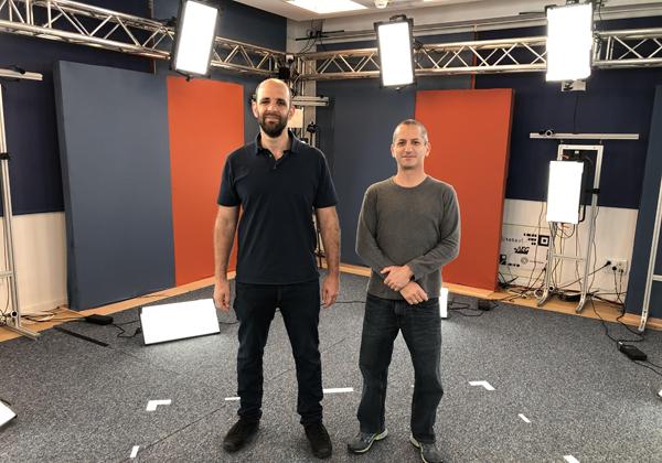 """מימין: גלעד טלמון, מנכ''ל TetaVi, ומיכה בירנבוים, מייסד משותף ומוביל טכנולוגי בחברה. צילום: יח""""צ"""