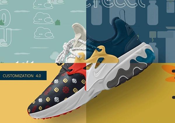 מפעל הנעליים של נייק מאפשר לכל לקוח לעצב כל פרט בנעל שלו, בצבעים שלו, עם כיתוב משלו על כל נעל ונעל. צילום: נייק