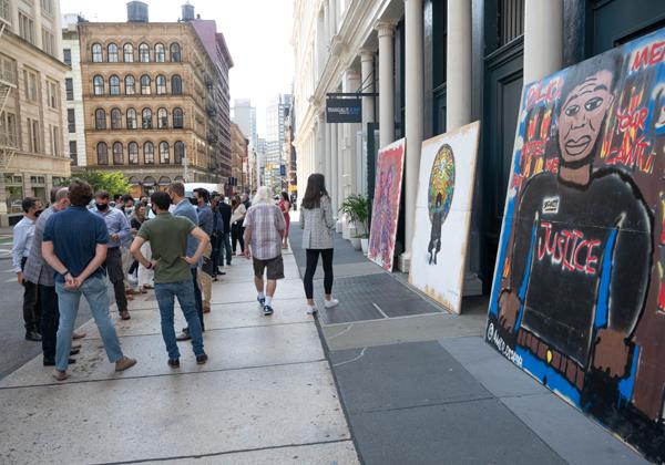 עבודות הגרפיטי ברחוב ברודוויי בניו-יורק. צילום: שחר עזרן