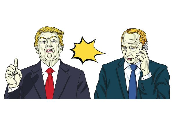 עכשיו הזמן להנער ממנו. טראמפ מפוטין. איור אילוסטרציה: BigStock
