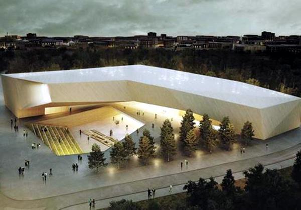 """כך עתיד להיראות מוזיאון הסובלנות בירושלים. מקור: יח""""צ"""