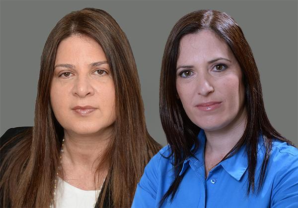 מימין: מיכל זילבר ועידית רוזנברג, מנהלות מחלקת ההיי-טק במשרד רימון-כהן. צילום: ישראל הררי