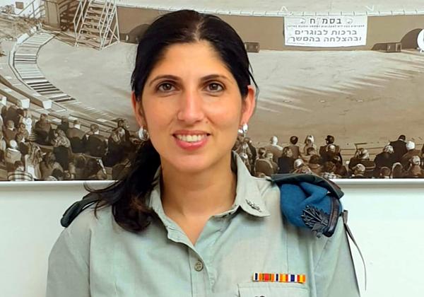 """סא""""ל רחלי דמבינסקי, שתהיה ראשת מחלקת מעוף. צילום: דובר צה""""ל"""
