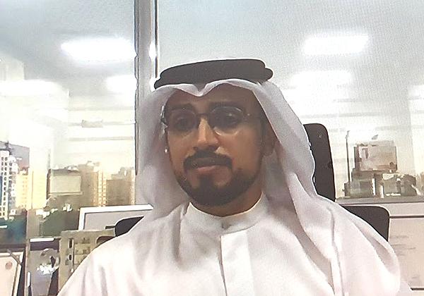עלי מוחמד חליפה אל מוואג'יי, חבר הנהלת קבוצת ריינברוק , בכנס שלשום (ג'). צילום מסך: פלי הנמר