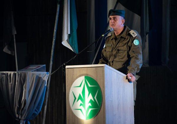 אלוף תמיר הימן, ראש אגף המודיעין, נואם בטקס חנוכת הדטה סנטר. צילום: דובר צה''ל