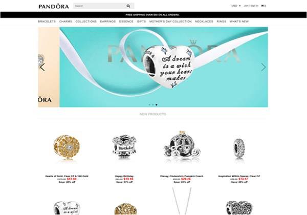 האתר המזויף של תכשיטי פנדורה. צילום מסך: צ'ק פוינט
