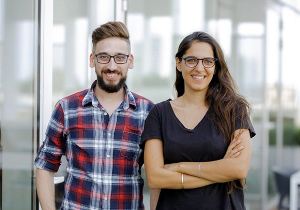 """מימין: עפאף שיהאב ובאסל הווארי, מייסדי Petwork. צילום: יח""""צ"""