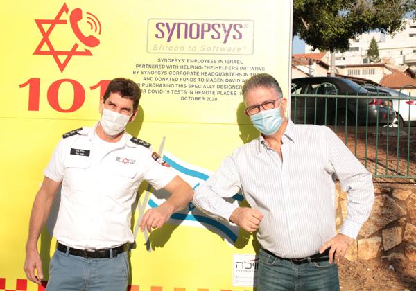 מימין: אהוד לוונשטיין, מנכ''ל סינופסיס ישראל, ואלי בין, מנכ''ל מדא. צילום: ליאור קליינברג