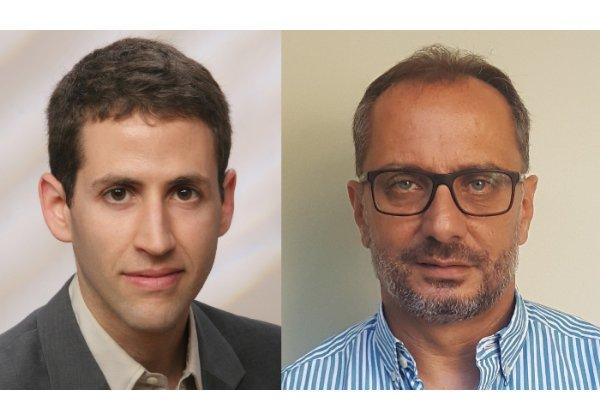 """מימין: אבי נגר ואורי שדות, חברי הוועד המנהל של איגוד האינטרנט הישראלי. צילום: יח""""צ"""
