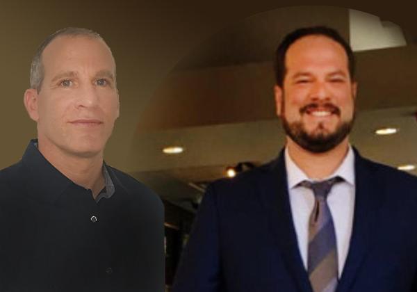 מימין: אופיר איתן, עובד במחלקת הסייבר של בנק ההשקעות של NatWest Group בארצות הברית, ורמון הדר, יועץ אבטחת מידע באלביט. צילומים פרטיים