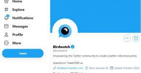 דף טוויטר של הכלי החדש Birdwatch. צילום מסך
