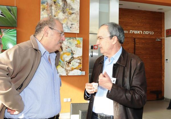 """באירוע מ- 2009 עם גורו ההיי-טק ד""""ר יוסי ורדי, חבר ותיק מראשית דרכי בעולם המחשוב. צילום: קובי קנטור ז""""ל"""