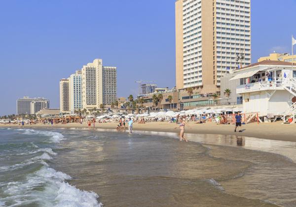 קו החוף של תל אביב. עיר מאושרת - אבל לא מספיק. צילום אילוסטרציה: BigStock
