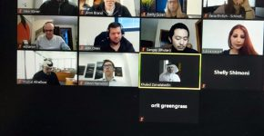 חלק ממשתתפי המפגש הבוקר (ה'). צילום מסך: יניב הלפרין