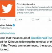 חסר תקדים: טוויטר ופייסבוק חסמו זמנית את חשבון הנשיא טראמפ