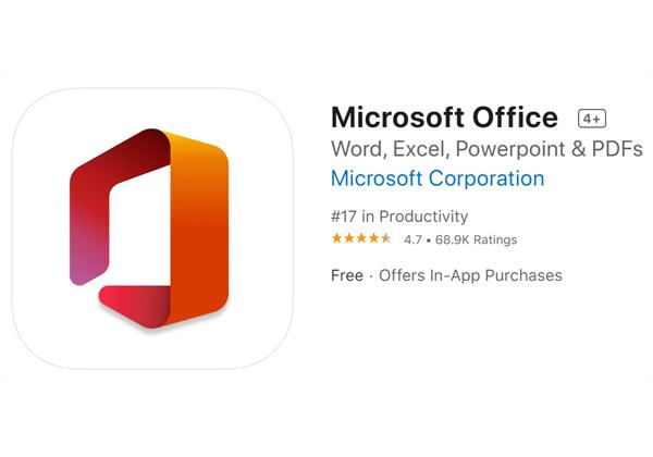 אפליקציית Office ל-iPad