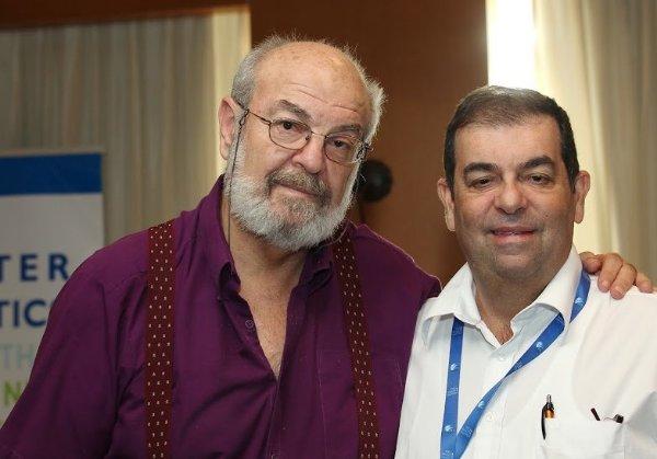 """עם ג'ימי שווקצקופף, מנכ""""ל STKI, בכנס משותף באילת, בהפקת אנשים ומחשבים כמובן. צילום: קובי קנטור ז""""ל"""