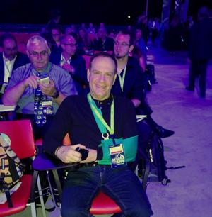 הפרוקה של פלי במסגרת כיסוי VMworld, האירוע השנתי של VMware בברצלונה. צילום: פרטי