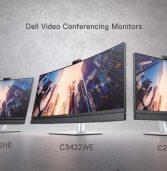 """דל משיקה סדרת מסכים עם מצלמה """"קופצת"""" ורמקולים המותאמים לשיחות ועידה"""