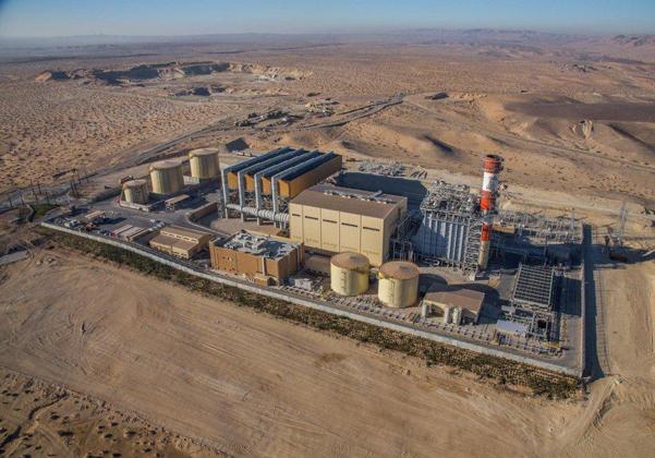 """תחנת הכוח רותם – תחנת הכוח הפרטית הראשונה בישראל. צילום: יח""""צ OPC"""