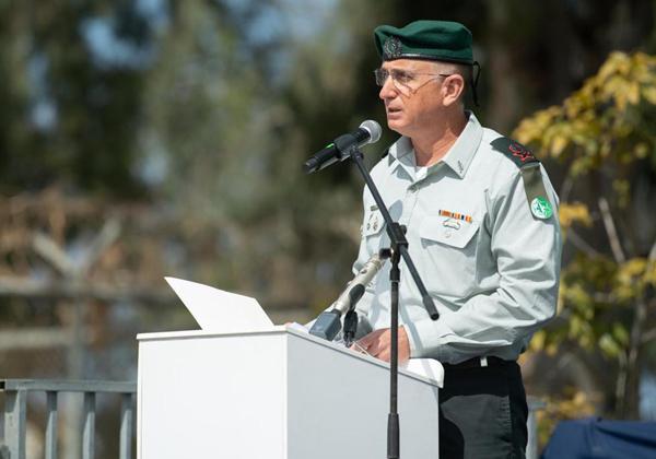 """ראש אמ""""ן, האלוף תמיר הימן, בטקס. צילום: דובר צה""""ל"""