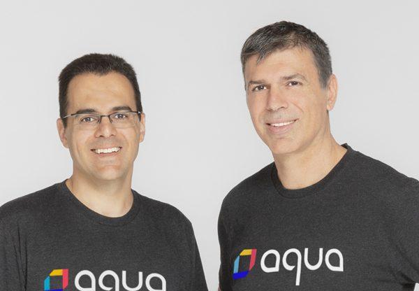 """מימין: דרור דוידוף, מנכ""""ל ומייסד משותף, ואמיר ג'רבי, סמנכ""""ל טכנולוגיות ראשי ומייסד משותף - אקווה סקיוריטי.צילום: יח""""צ אקווה סקיוריטי"""
