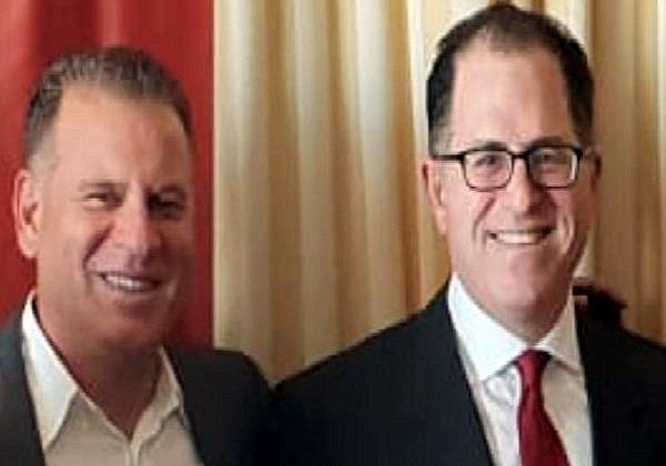 שמוליק ענתבי ומייקל דל, מייסד קבוצת דל העולמית. צילום: פלי הנמר