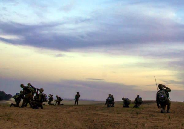 """חיילים בשטח בזמן התרגיל. צילום: דובר צה""""ל"""