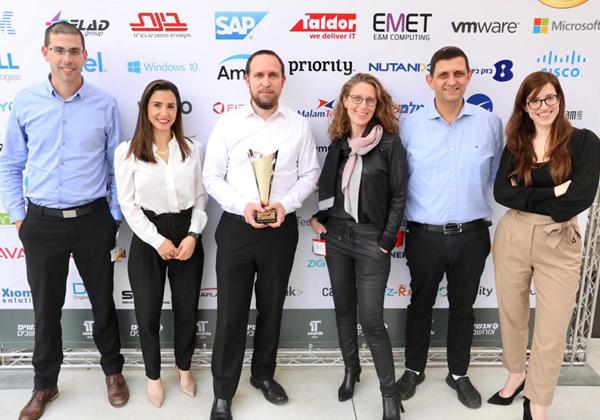 אנשי מנורה מבטחים זוכים בתואר אלוף האלופים בתחרות מצטייני המחשוב. צילום: ניב קנטור