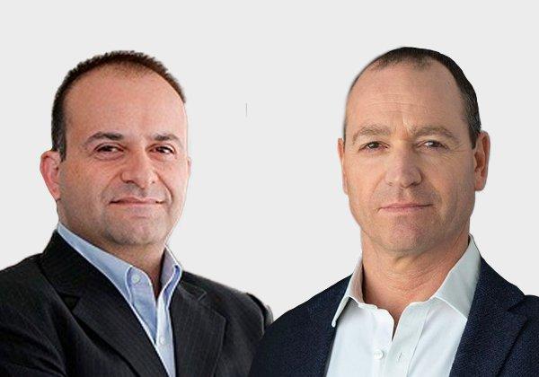 """מימין: רונן יהושע, מנכ""""ל מורפיסק, ויואב צרויה, שותף כללי ב-JVP. צילום: יח""""צ"""